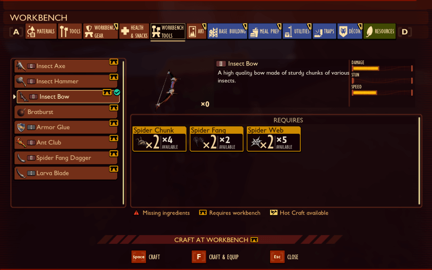 How To Craft Insect Bow In Grounded