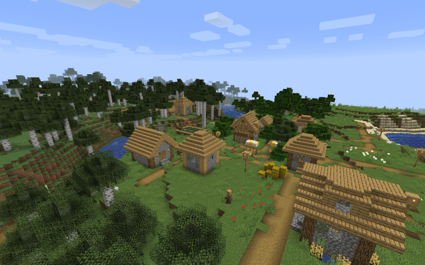 Minecraft-Forest-and-Villages-Seeds