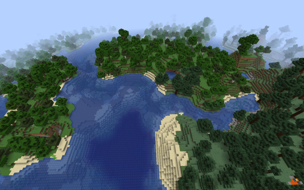 Minecraft-River-Intersection-Seed