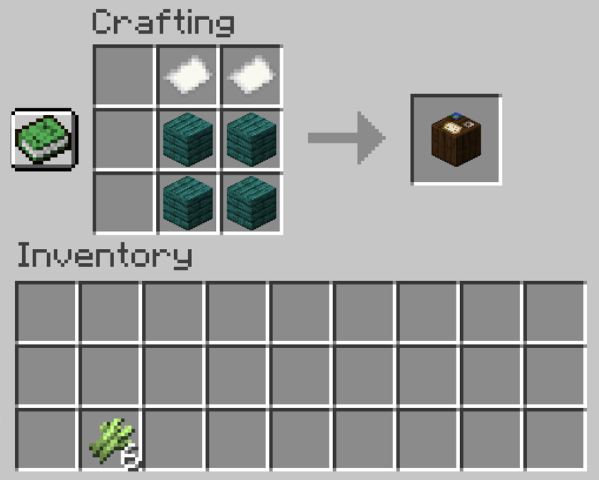 Steps To Craft Cartography Table In Minecraft
