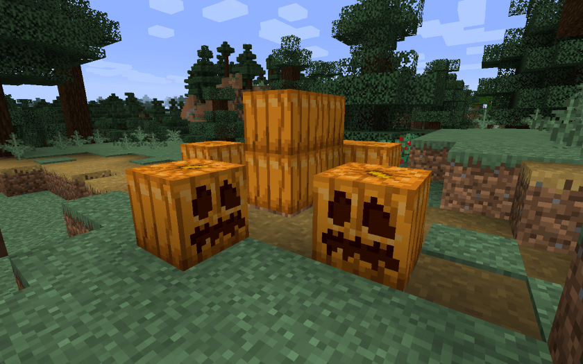 Steps to Carve a Pumpkin in Minecraft