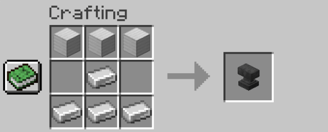 Steps to make anvil in Minecraft