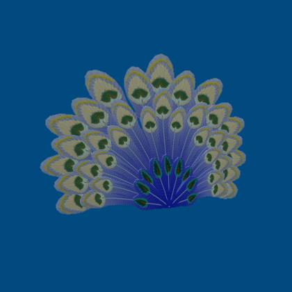 Wintery Peacock Tail