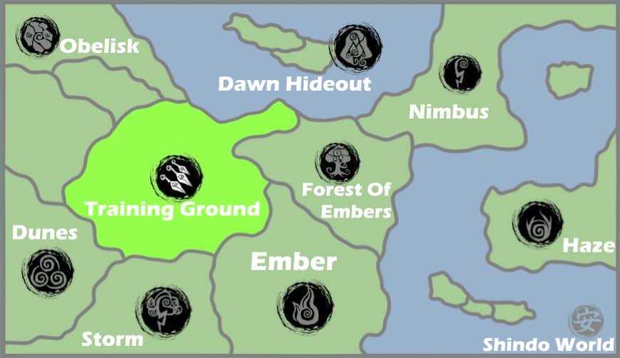 Shindo Life Map