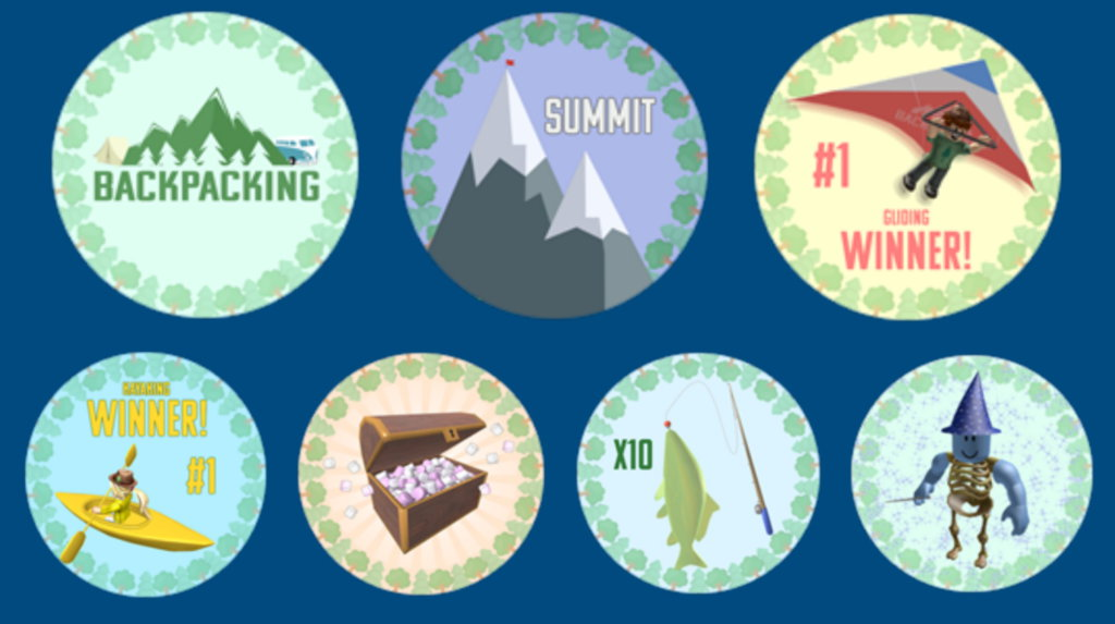 Backpacking Game Badges